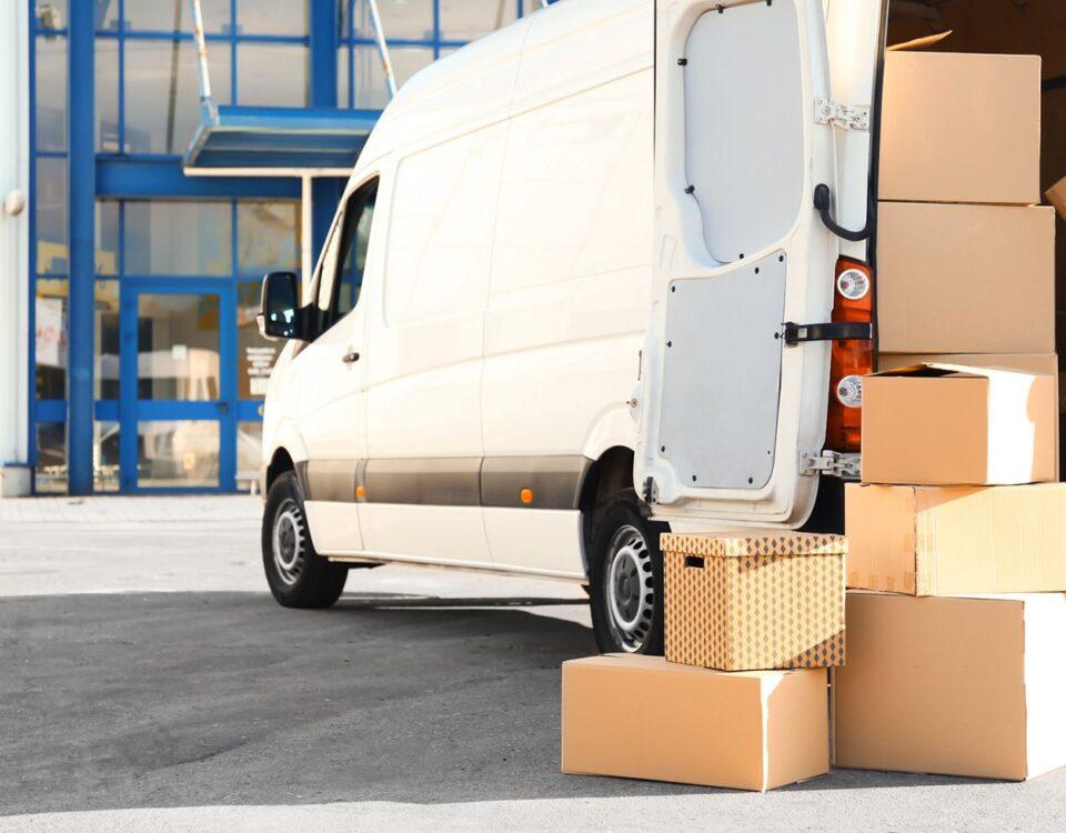 camionnette de déménagement